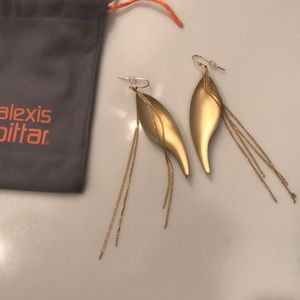 Alexis Bittar Gold lucite & chain earrings